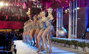 Heverin and her fellow Rockettes perform at the famous Christmas tree lighting at Rockefeller Center.