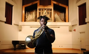 UA doctoral candidate Joshua Williams won first place in the International Horn Competition of America in 2017.