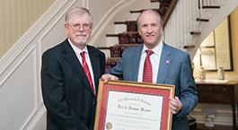 David Dixon and President Stuart Bell