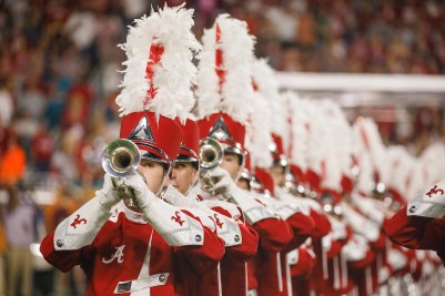 The trumpet line in the Million Dollar Band