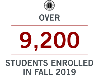 Over 9,200 students enrolled in Fall 2019