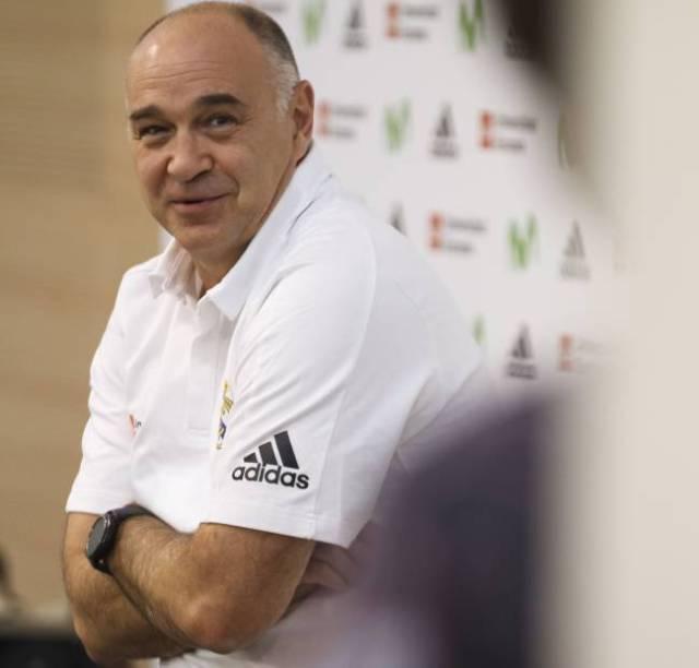 Pablo Laso, durante el Media Day del Real Madrid.