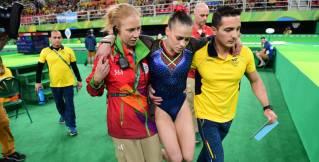 Gimnasta Catalina Escobar se lesiona en la clasificación