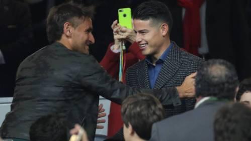 James Rodríguez en la final de la Copa Libertadores