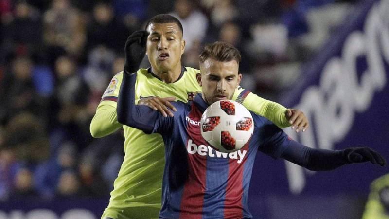 Jeison Murillo debutó con Barcelona ante Levante por Copa del Rey