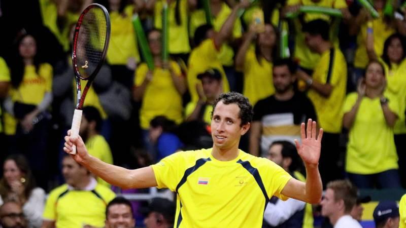 Colombia gana la serie de Copa Davis 2-0 ante Suecia. Giraldo y Galán lograron los puntos