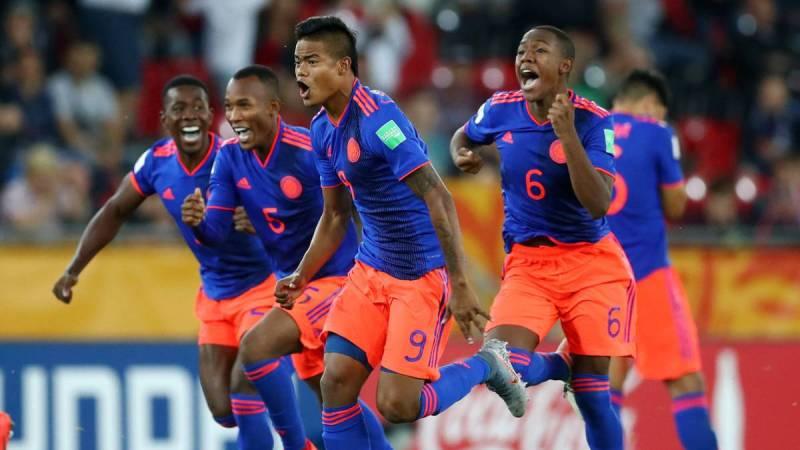 Colombia celebra la clasificación a cuartos de final del Mundial Sub 20 de Polonia