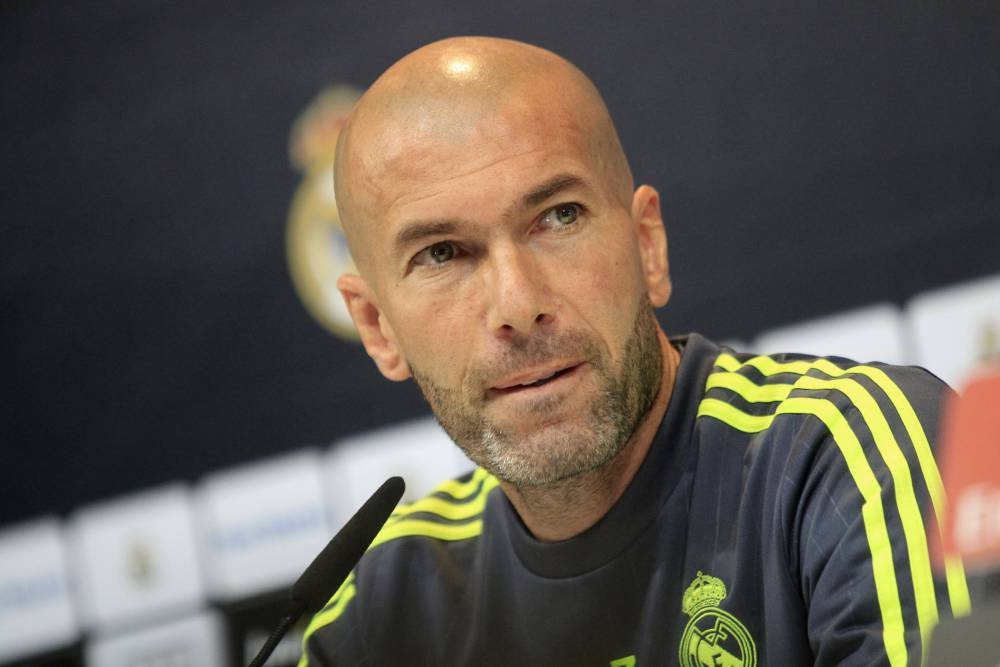 Image result for zinedine zidane in press conference 2016