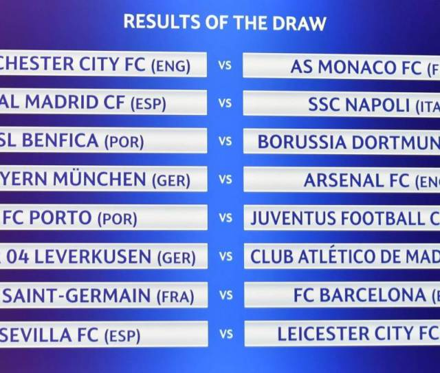 Champions League And Europa League Draws As They Happened Fixtures Reaction