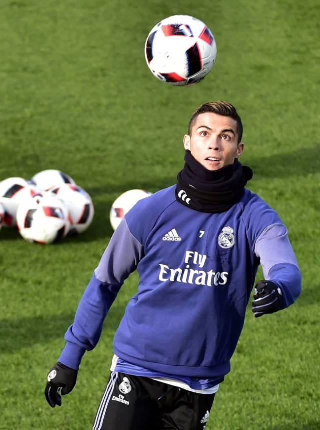 Cristiano Ronaldo seemed to train well