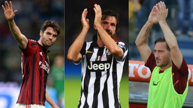 Kaka, Pirlo and Totti – Football greats who retired in 2017
