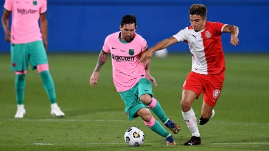 Messi scores first goals since transfer saga in Barca friendly win