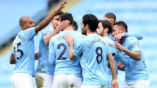 Man City set new club record of 12 straight wins