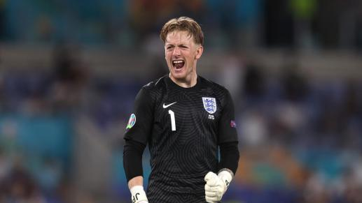 Pickford makes Euro history as England's clean sheet run rolls on