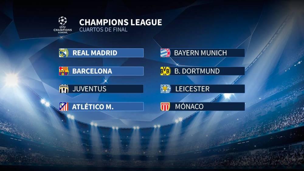 Cuartos: Bayern, Juve, Dortmund, Mónaco, Leicester y 3 españoles