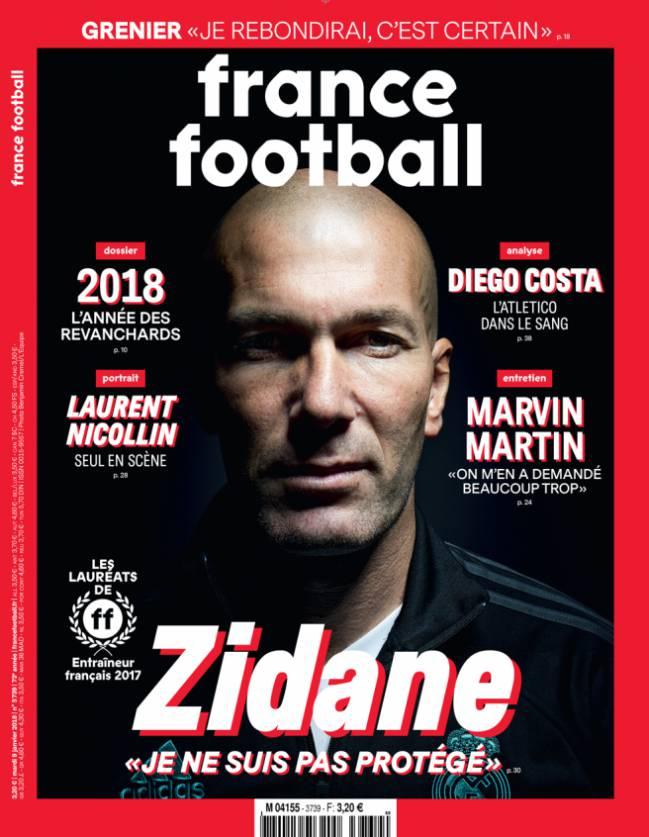 Zidane, nombrado entrenador francés del año por France Football.