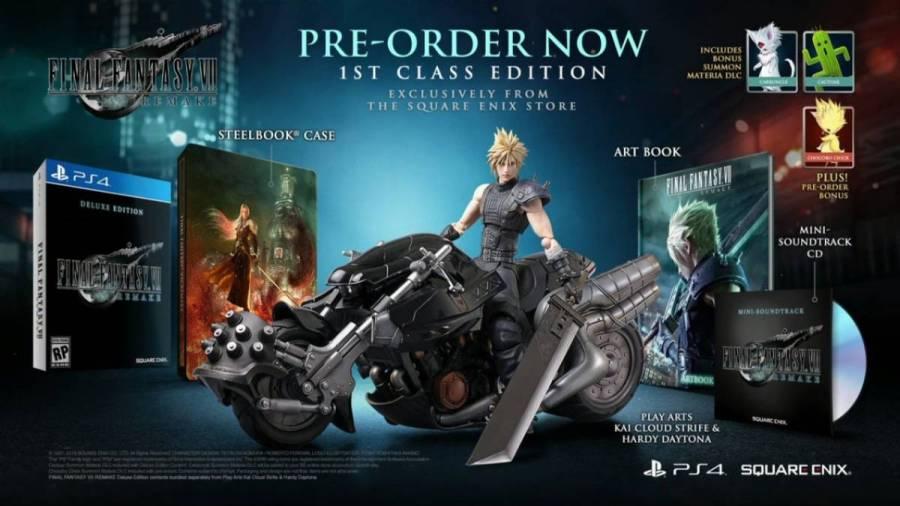 Final Fantasy VII Remake, E3 2019, ediciones