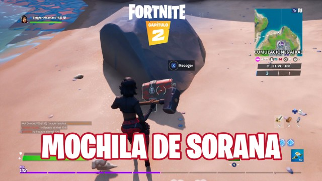 fortnite chapter 2 season 1 challenges alter ego challenge is the accessory backpacking hidden in the loading screen of chaos rising while you are wearing the suit sorana
