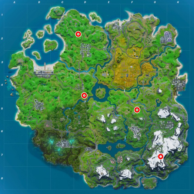fortnite chapter 2 season 1 challenges cure vs toxin challenge visit different trucks of food map
