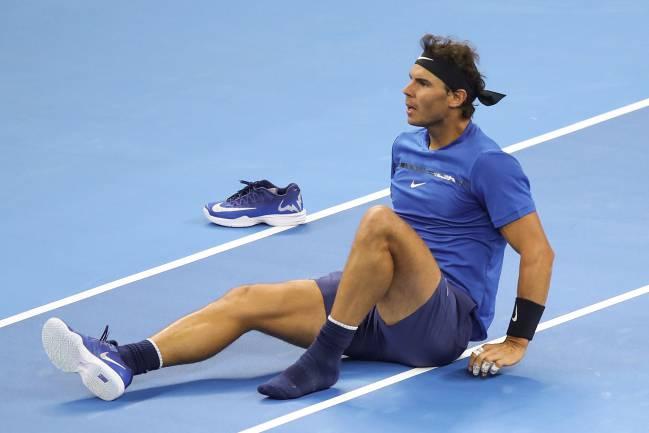 Nadal perdió la zapatilla.