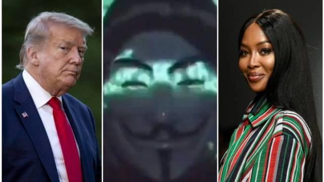Anonymous: Donald Trump y Naomi Campbell involucrados con la red Epstein