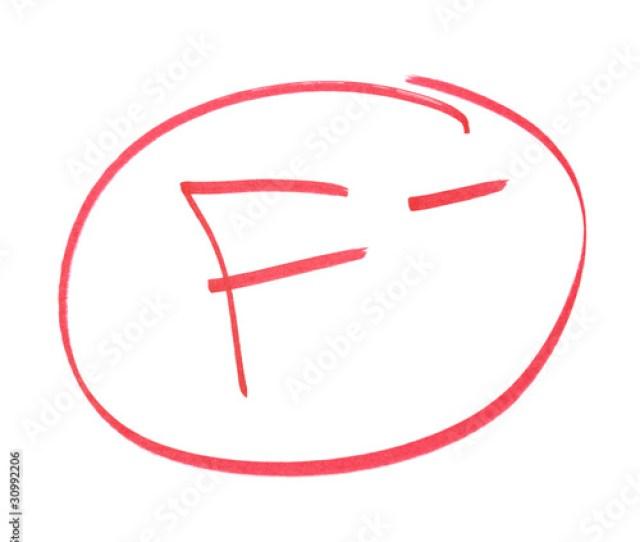 F Minus Grade