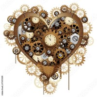 A Steampunk Valentine's Heart beats in Adobe Stock ❤
