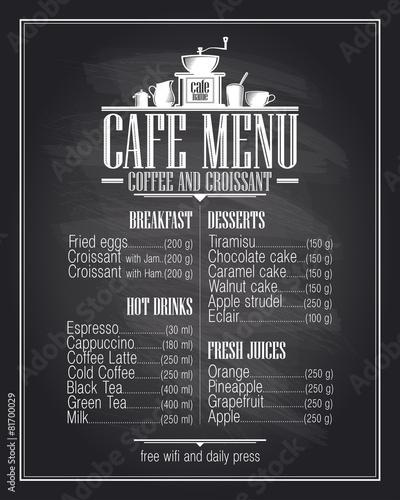Bloxburg Menu Chalkboard Cafe