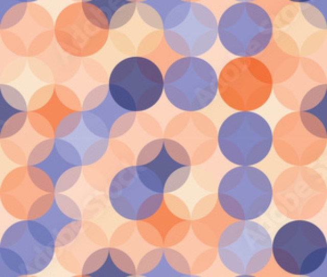 Vector Modern Seamless Colorful Geometry Pattern Circles Color Blue Orange Abstract Geometric Backgroundwallpaper