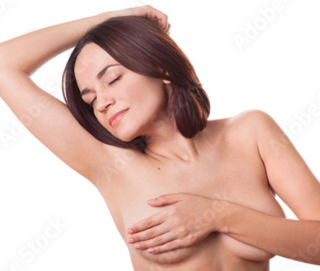 Nude Sexy Girl Woman Lady Covering Her Breasts With Hand