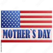 Happy Mothers Day. Festive Holiday typographical stylish vector  illustration with American flag and the lettering Stock Vector | Adobe Stock