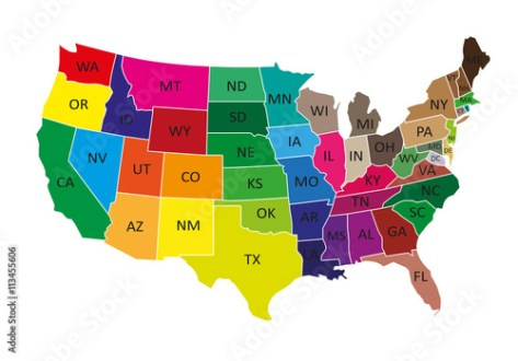 USA map with states   Buy this stock vector and explore similar     USA map with states