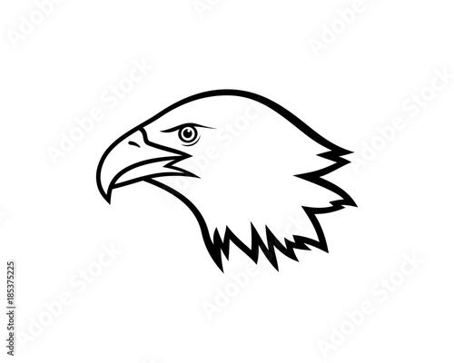 Simple Line Art Bird Eagle Head Illustration Vector Logo Animal Buy This Stock Vector And Explore Similar Vectors At Adobe Stock Adobe Stock
