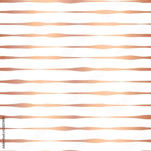 copper foil hand drawn horizontal lines