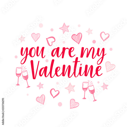 vector red lettering for valentine s