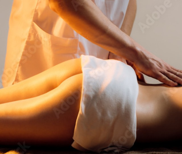 Back Massage In Spa Center Treatment Masseur Masseuse Woman Massage Spa Body