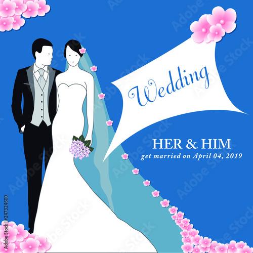invitation pour un mariage printanier