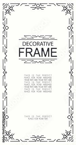 decorative geometric line frame elegant