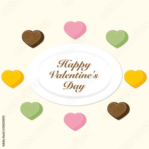 バレンタインデーチョコ素材(チョコレート、苺、抹茶、オレンジ)
