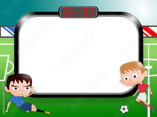 joueurs de foot cartoon carte