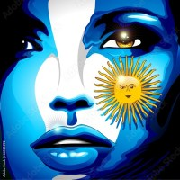 Argentina Flag Girl Portrait Design
