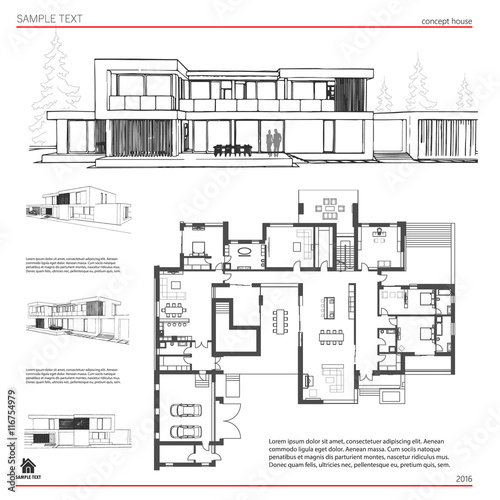 Wireframe Blueprint Drawing Of 3d Building House Vector Architectural Template Background Buy This Stock Vector And Explore Similar Vectors At Adobe Stock Adobe Stock