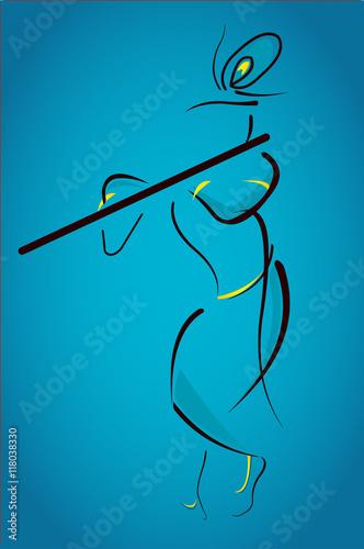 Lord Krishna Janmashtami Line Art Buy This Stock Illustration And Explore Similar Illustrations At Adobe Stock Adobe Stock