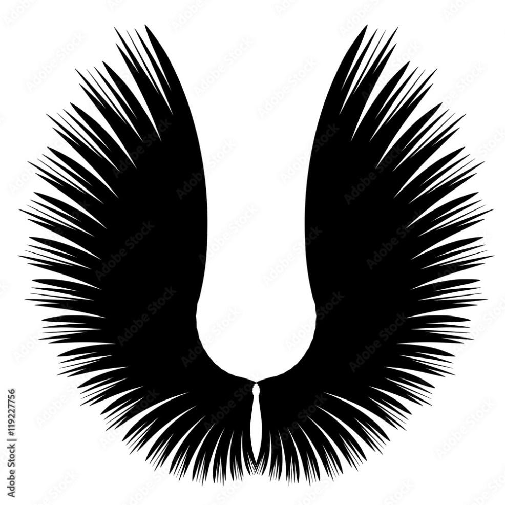 Photo Art Print черные крилья эскиз татуировки Europosters