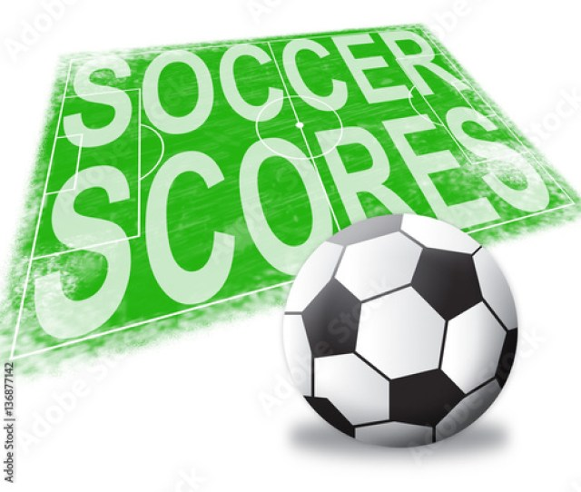 Soccer Scores Shows Football Results 3d Illustration