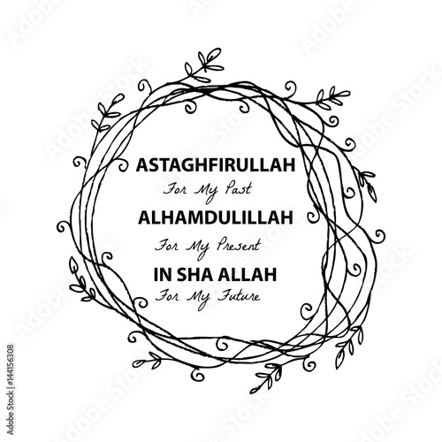 Image of: Images Astaghfirullah For The Past Alhamdulillah For The Present In Sha Allah For Thr Future Islamic Quran Quotes Adobe Stock Astaghfirullah For The Past Alhamdulillah For The Present In Sha