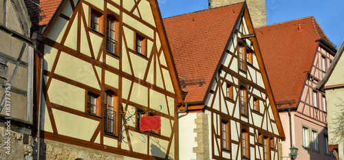 https stock adobe com images german architecture ancient half timbered houses with red tile roofs in a medieval old town in bavaria one of the most attractive towns in germany 183773753 start checkout 1 content id 183773753