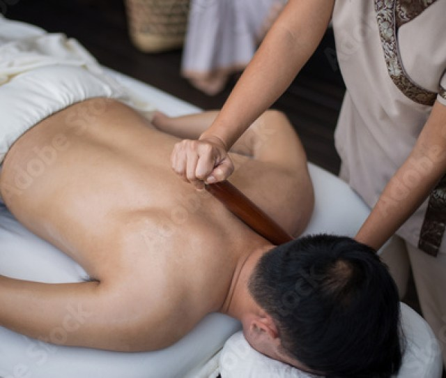 Asian Man Getting Massage