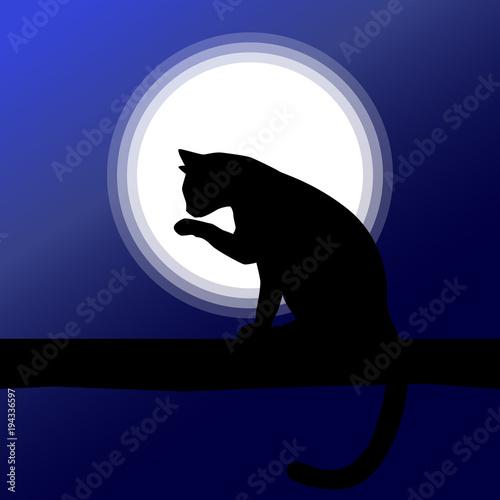 simple cat silhouette illustration cat