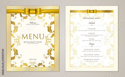 elegant luxe gold cover useful for cafe